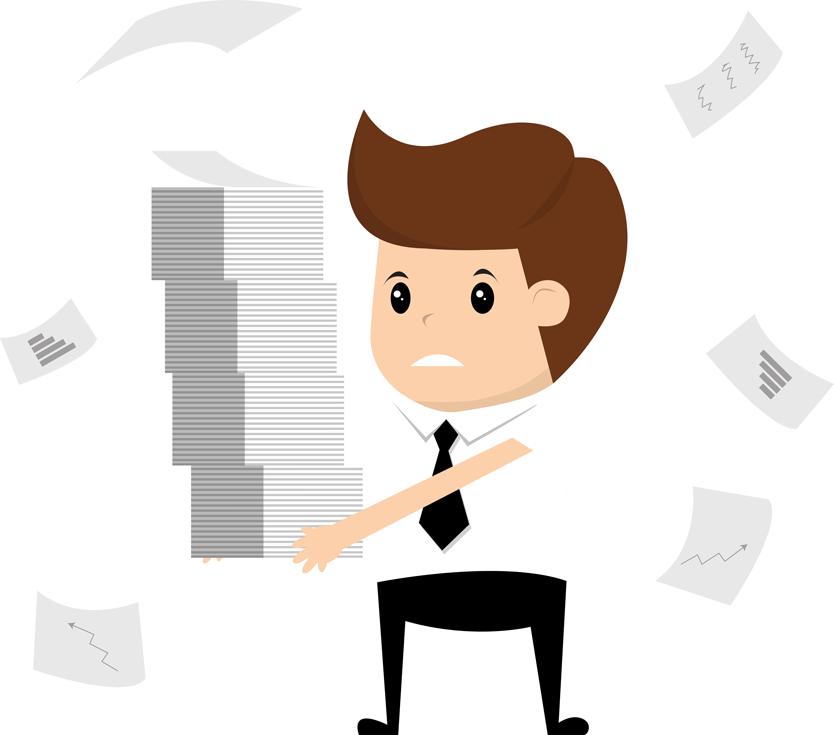 Businessman Have More Work Work Hard Holding Document